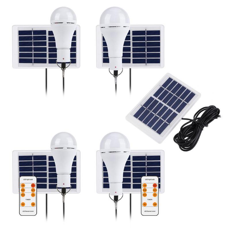 5 Modes 20 COB LED Solar Light USB Rechargeable Energy Bulb Camping Lamp