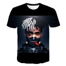 Nova aikooki 3d xxxtentacion t camisa menwomen quente raper moda hip hop 3d impressão xxxtentacion camisa de manga curta masculina