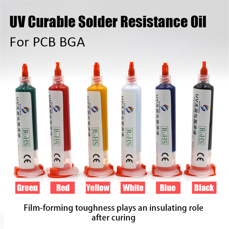10ML UV Solder Flux Prevent Corrosive Arcing Welding Fluxes Oil Soldering Paste Flux Tool Photosensitive Inks For PCB BGA Paint