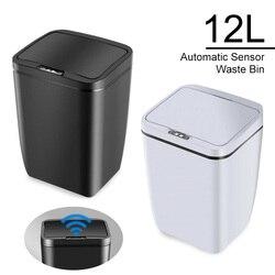 12L automatyczny czujnik na podczerwień kosz na śmieci prostokątny uchwyt na worek na śmieci śmieci kosz na śmieci kosz na śmieci śmieci kompost Trashcan Clean
