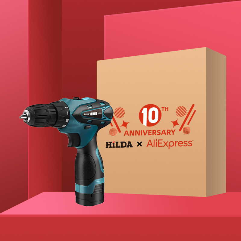 HILDA Electric Screwdriver Electric Drill Lithium Battery  Mini Drill Cordless Screwdriver Power Tools Cordless Drill