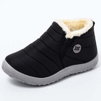 Women Sneakers New Women Waterproof knitted Vulcanized Shoes Platform Loafers Woman Casual Shoes Platform Slip-On Female Shoes tanie i dobre opinie KUIDFAR Dół CN (pochodzenie) ROME Stałe Dla dorosłych Pluszowe Zima Niska (1 cm-3 cm) Pasuje prawda na wymiar weź swój normalny rozmiar