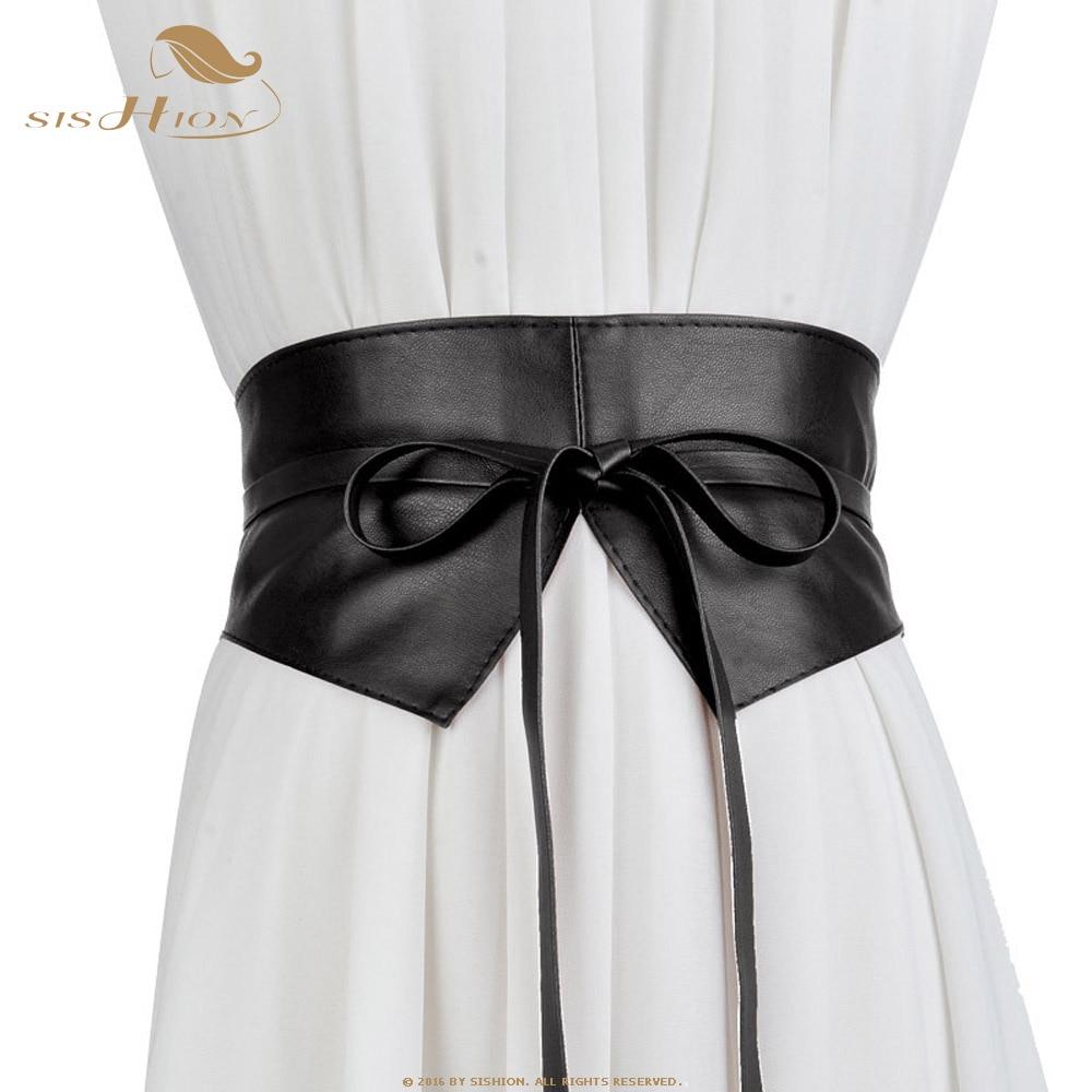 SISHION Ladies Women Wide Belt Lace-up Cummerbunds QY0317 Decoration For Women Belts Dresses Clothing Accessories Waistband