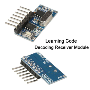 Image 3 - Qiachip 433mhz rf relé módulo receptor sem fio 4 ch saída com botão de aprendizagem e 433mhz rf controle remoto transmissor diy