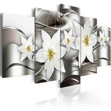 5 шт белые розовые орхидеи цветущие постеры Холст Картина пастельный