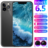 Phone 11pro 6.5 inch HD screen Android phone FaceID 8MP + 16MP 6GRAM + 128ROM Free shipping on cheap phones smartphone