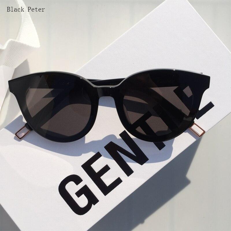 Vintage Round Korea Brand Designer Gentle Sunglasses Women  Black Peter Sun Glasses Retro UV400 Eyeglasses For Men Women