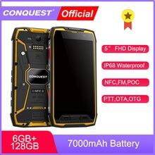 CONQUISTA S11 7000mAh IP68 do SmartPhone Robusto À Prova D' Água NFC Smartphones Telefones Celulares telefone Móvel celular Desbloqueado