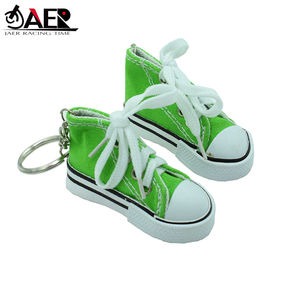Side Stand Tripod Decor Mini Sneaker Canvas Shoe Keychain Keyring Motorcycle Bicycle Foot Support Small Shoes Avoiding Scratching The Floor MEIZHEN Cute Motorcycle Kickstand Pad