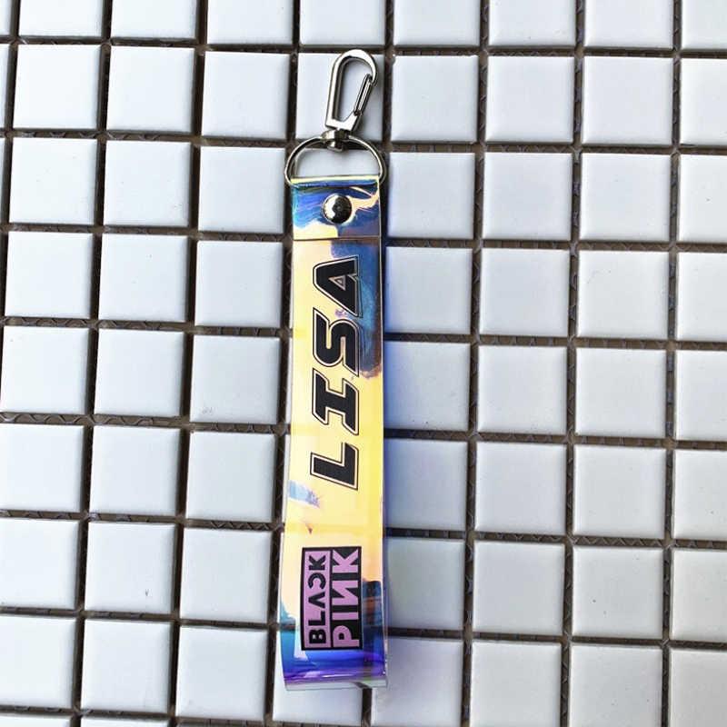Kpop Blackpink Exo Got7 Izone Tweemaal Zeventien Sleutelhanger Borduren Opknoping Touw Sleutelhanger Telefoon Ring Lanyard Groothandel