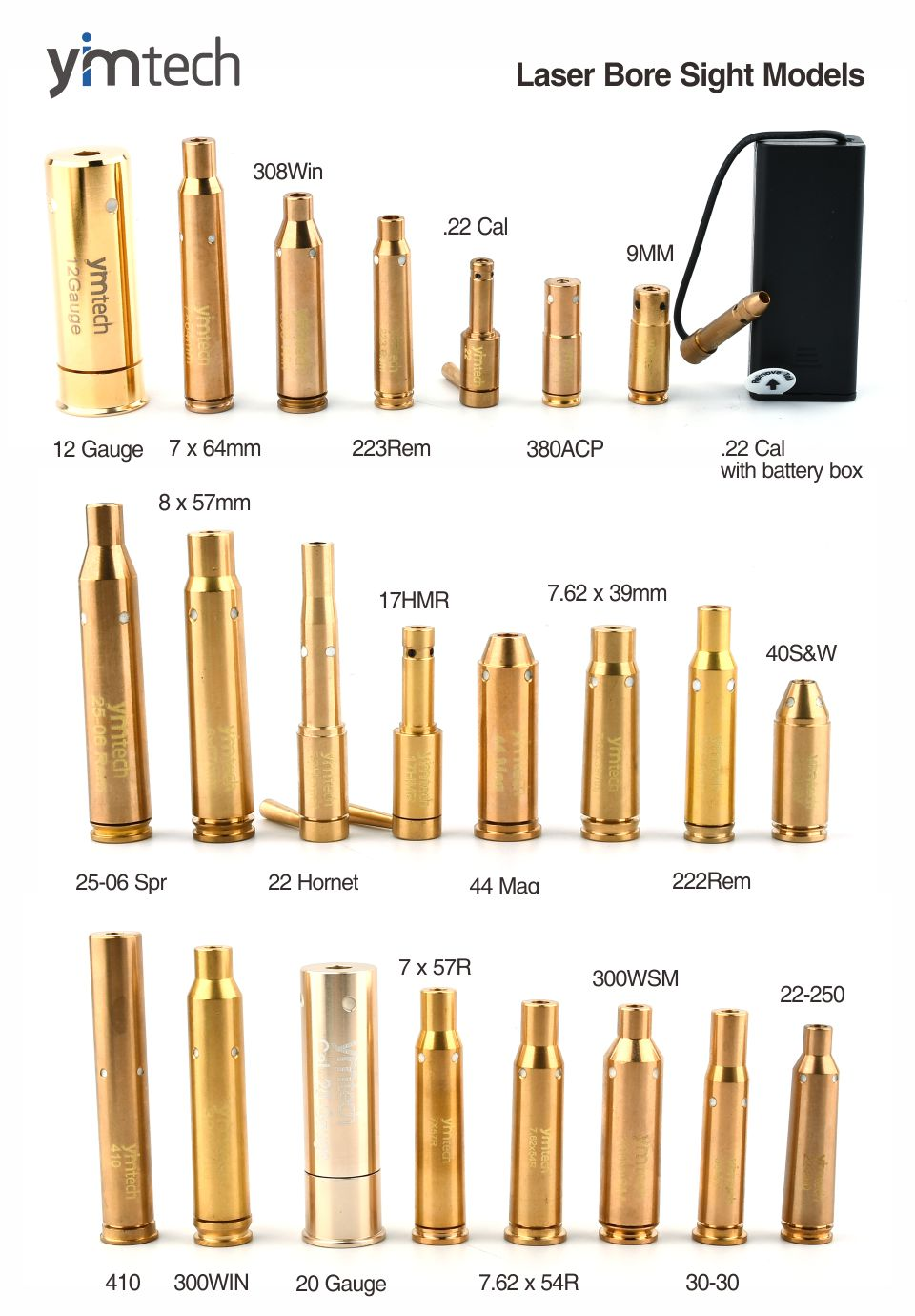 laser bore sight cartucho de bronze boresight