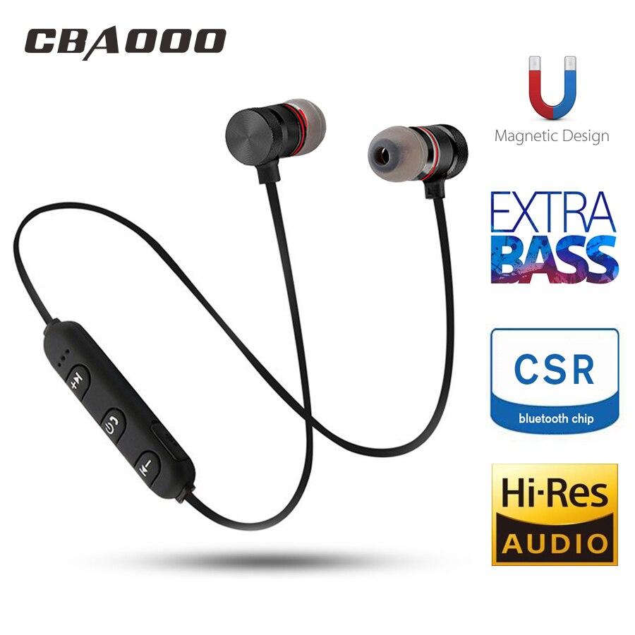 CBAOOO C40W Bluetooth Earphone Sport Handsfree Wireless Earphones Magnetic Headset Headphones With Microphone For Mobile Phones