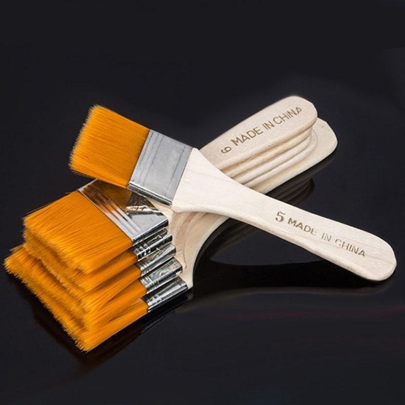 1 Pcs Nylon Hair Painting Brush Oil Watercolor Water Powder Propylene Acrylic Differeent Size Paint Brushes School Art Supply