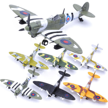 22cm 4D Diy Toys Fighter Assemble Blocks Building Model Airplane Military Model Arms WW2 Germany BF109 UK Hurricane Fighter
