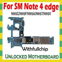 מקורי נעילת האם לסמסונג הערה 4 קצה N915F N915G N915A N915T N915V מלא שבבי היגיון לוח OS סמארטפון Mainboard