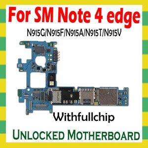 Image 1 - Original Unlock Motherboard For Samsung Note 4 edge N915F N915G N915A N915T N915V Full Chips Logic Board OS Unlocked Mainboard