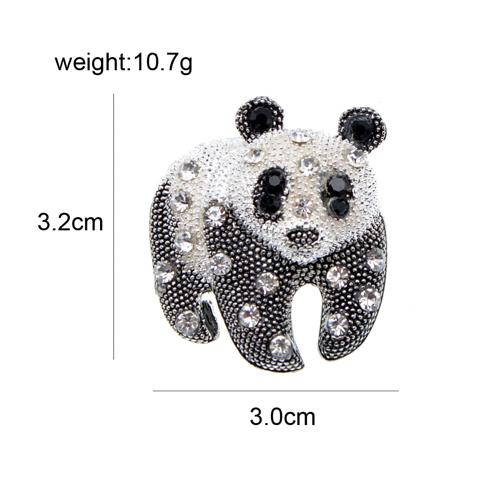 CINDY XIANG Black And White Color Panda Brooch Unisex Fashion Animal Design Brooch Rhinestone Jewelry High Quality New 2021 2