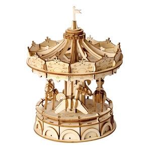 Image 1 - 3D пазл колесо обозрения Robotime, деревянная модель, строительные наборы, популярные развивающие игрушки, подарки для детей и взрослых TG