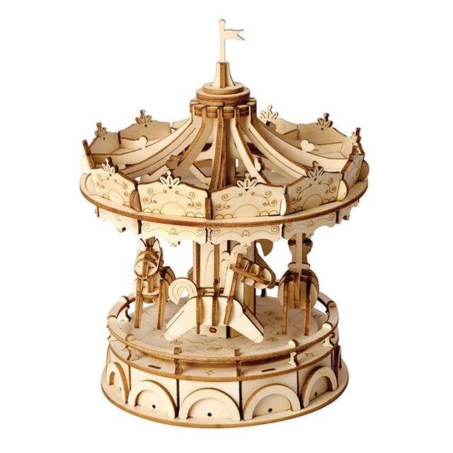 3D пазл колесо обозрения Robotime, деревянная модель, строительные наборы, популярные развивающие игрушки, подарки для детей и взрослых TG