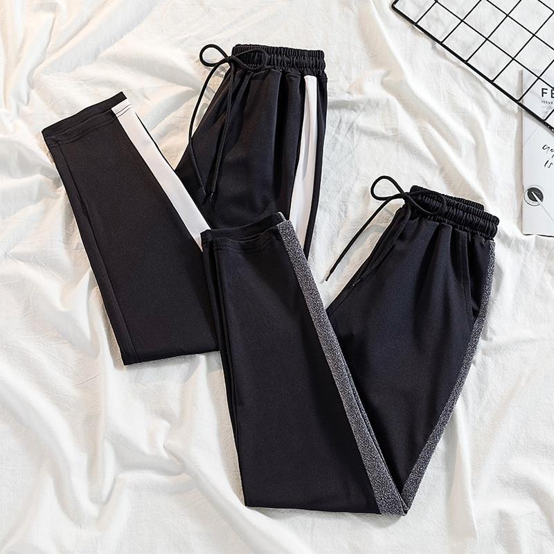 Striped Pants Women Harem Casual High Waist    Plus Size Pantalon Femme Sweatpants   Female Trousers 100kg