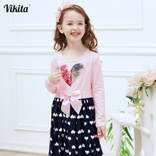 Kids Girls Cartoon Dresses Clothes