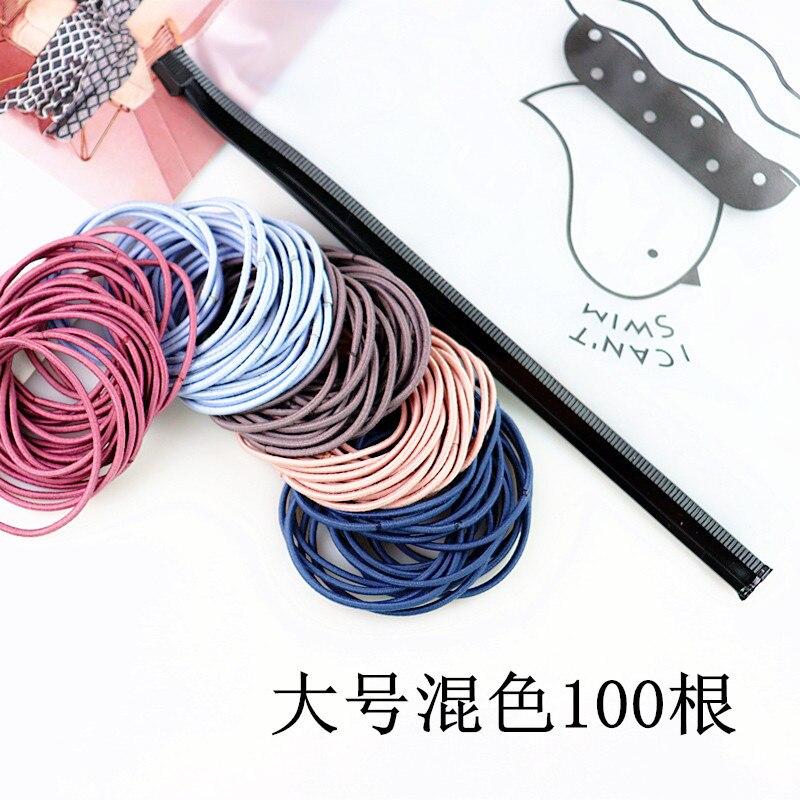 2019 Simple Small Loop Thin Hair Rope Girl Hair High Elastic Elastic Band Classic Hair Band Rope Hair Accessories for Girl Women