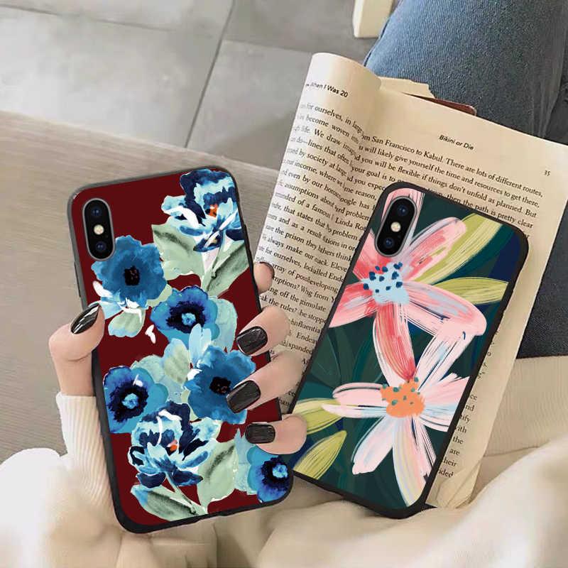 Xiaomi redmi redmi 注 7 プロケースバックカバー 8A バンパーコリア 7a 電話のシェルバッグ coque 花