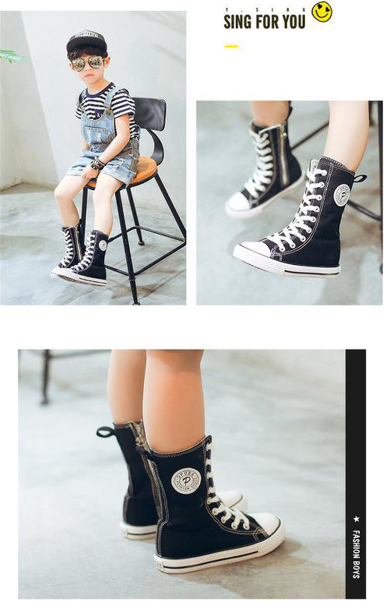 PINSEN 2019 Spring Autumn Shoes Girls Boots Cancas Childen Shoes For Girl Breathable Kids Boots For Girls Fashion Boots (10)
