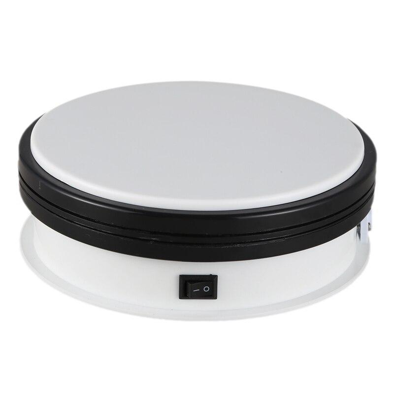 15cm Electric Motorized Rotary Rotating Display Stand Turntable 360 Degree Rotating Turntable Bear Up 15KG EU Plug