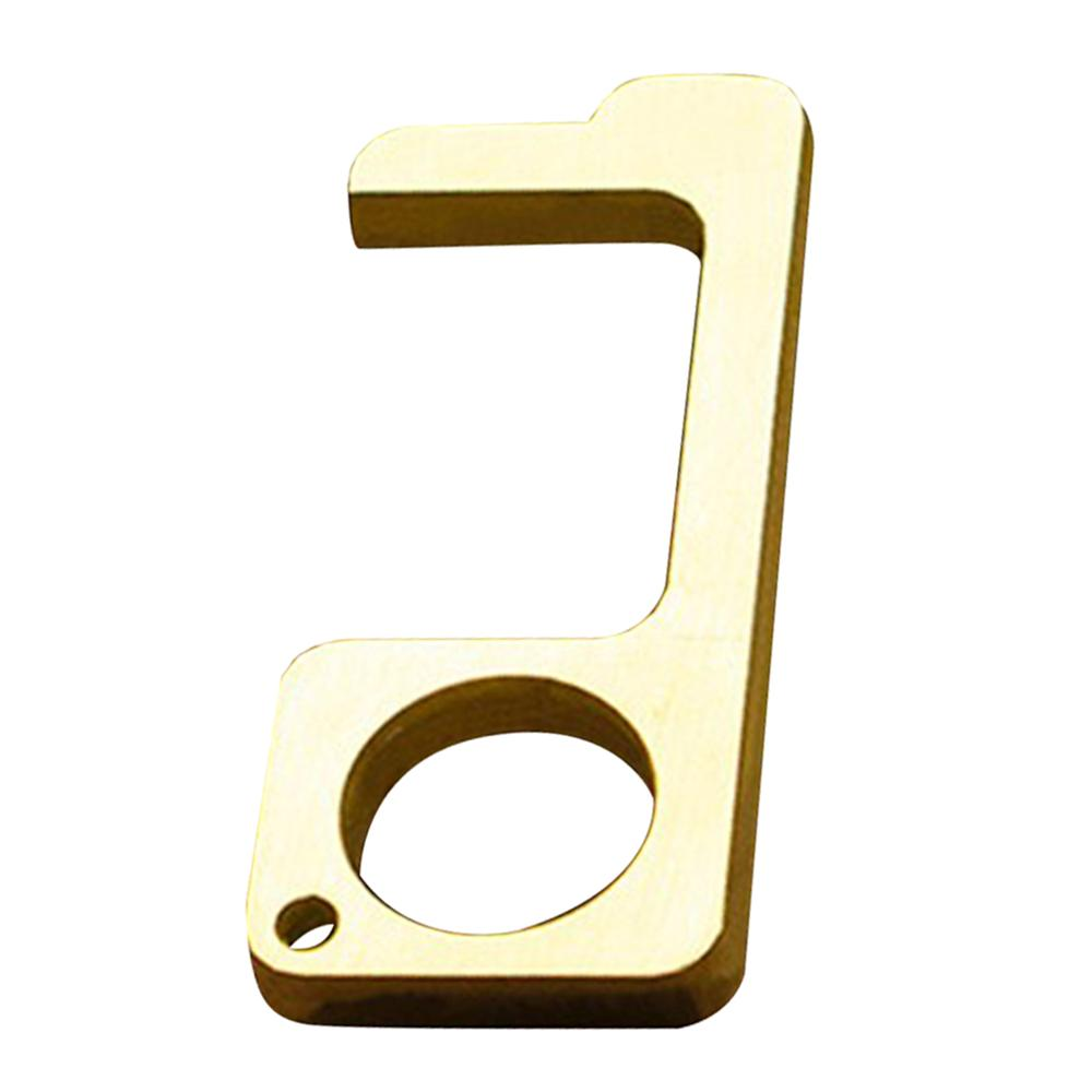 Hygiene Hand Antimicrobial Brass EDC Door Opener & Stylus Portable Press Elevator Tool Door Handle Key