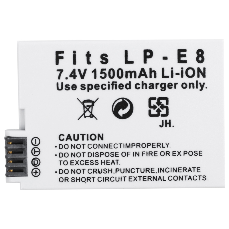 AMS-1500 mAH Battery For Canon LP-E8 LPE8 EOS 550D 600D 650D <font><b>700D</b></font> Digital Camera Battery Charger Battery image