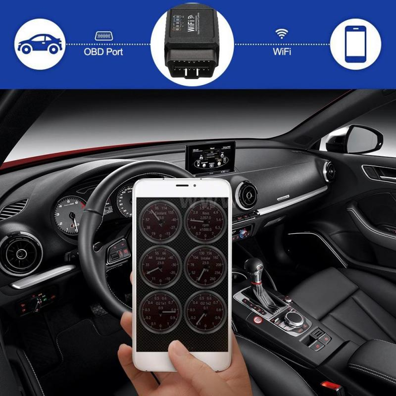 Volle OBD2 Auto Diagnose Scanner OBD 2 Motor Automotive Code Reader Creader 3001 Auto Diagnose Werkzeug freies update 1,5 V ELM327