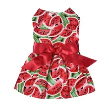Get more info on the Pet dog clothes red printed watermelon skirt party dress poodle evening dress pet dog sweet cute shirt puppy clothes pet clothin
