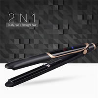 2 In 1 Professional Hair Straightener Curler Ionic Infrared Flat Iron Hair Curling Iron LCD Display Ceramic Styling Tool 1