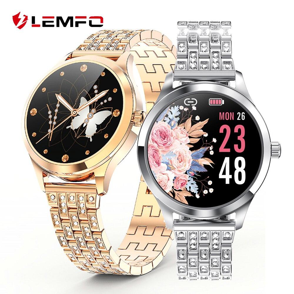 LEMFO LW07 Smart Watch Women 2.5D DIY Watch Face IP67 Waterproof Lady Smartwatch 2020 For Android IOS Phone Fitness Bracelet 1