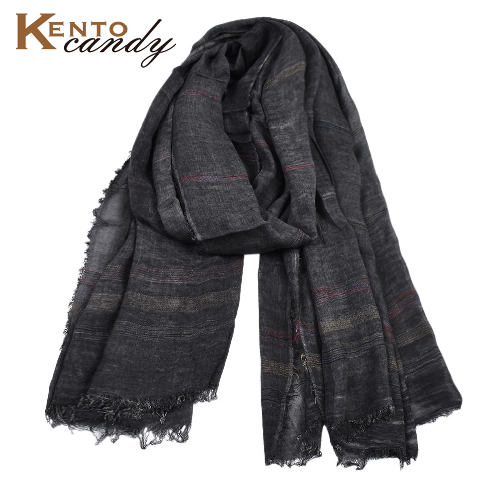 2019 Japanese Casual Unisex Style Winter Cotton Scarf Male Striped Long Suit Women's Brand Scarves Black Gift Shawl Men Scarves