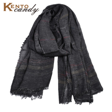 2019 Japanese casual Unisex Style Winter cotton Scarf male Striped long Suit womens brand scarves black gift shawl Men scarves