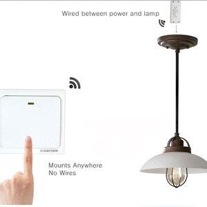 Image 4 - Interruptor de controle remoto da luz da lâmpada do interruptor 90 433 v do rf 260 hz wirelessremote no receptor fora da parede do fio (vendido separadamente)
