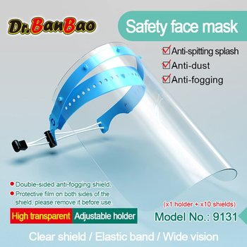 1/10 Set PET/ Polyester Multi-Function Transparent Protection Isolation Mask Anti-Dust And Anti-Fog Face Protective Face Screen