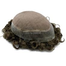 Insan saç mono dantel etrafında şeffaf pu taban özel herhangi bir boyut ve renk