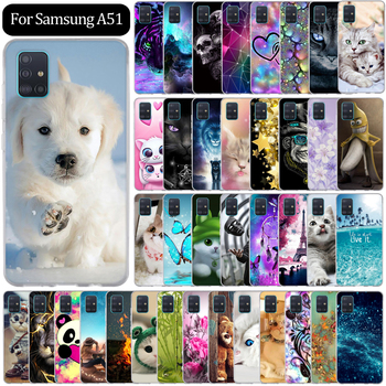 цена на For Samsung Galaxy A51 Case Silicone Painting Back Cover For Samsung A51 A 51 SM-A515F Case Funda Coque Capas Bumper Protective