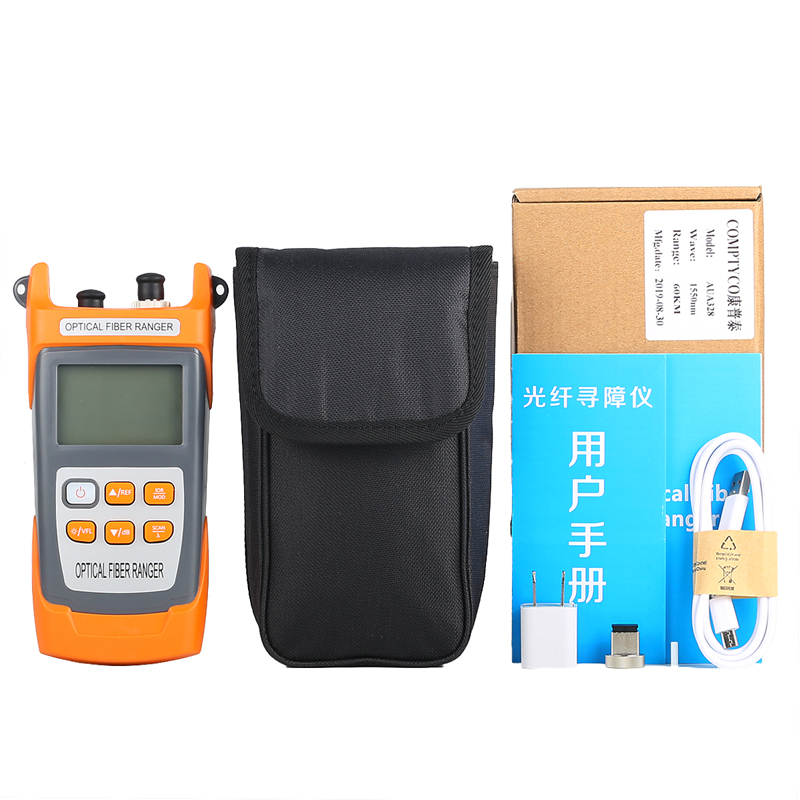 Image 5 - COMPTYCO  AUA328 Handheld OTDR 60km Optical Fiber Ranger Fiber optic cable obstacle detector 1550nm Fiber breakpoint tester-in Fiber Optic Equipments from Cellphones & Telecommunications
