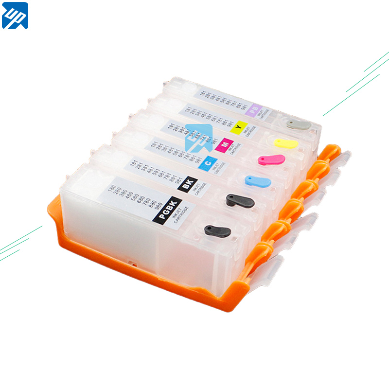 UP PGI 580 PGI580 CLI581 Empty refillable Ink Cartridges For 