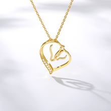 Romantic Crytal Love Heart Necklace Women Rhinestone Choker Collares De Moda 2019 Gold Chain Necklace Pendent Boho Jewelry Gifts