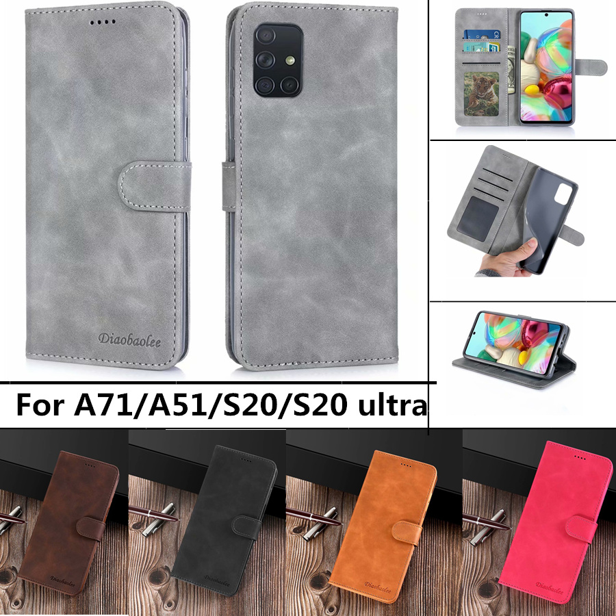 Luxury <font><b>Leather</b></font> <font><b>Case</b></font> For <font><b>Samsung</b></font> <font><b>Galaxy</b></font> A51 A71 S20 S20 ultra S10 S8 S9plus A70 <font><b>A50</b></font> A20s A30s A7 A8 2018 <font><b>Flip</b></font> <font><b>Stand</b></font> <font><b>Wallet</b></font> Cover image