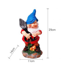 1pc Polyresin Garden Dwarfs Decorations Gnome Statue Outdoor