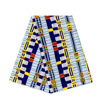 Nigeria Spuer wosk afrykańska tkanina Ankara prawdziwy druk Dashiki tkanina bawełniana wosk drukuje afryka NO 1 tanie i dobre opinie CN (pochodzenie) Na co dzień Wax Fabric 100 Cotton
