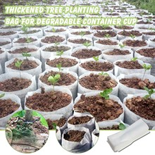 100 sztuk biodegradowalne włóknina przedszkole roślin rosną torby sadzonka rosnące sadzarka sadzenia doniczki ogród ekologiczny Jardin tanie tanio CN (pochodzenie) RUBBER