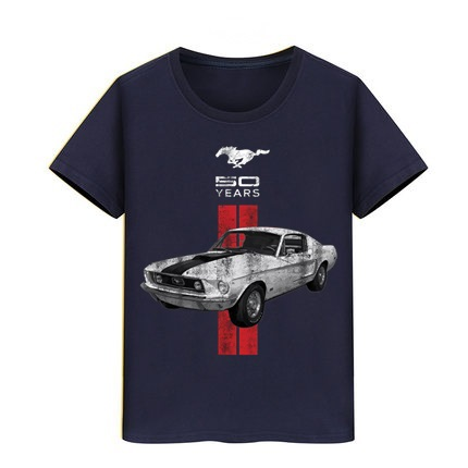 Mustang 50 Years T-shirt Ford Car Logo T Shirt Boy Girl Cotton Tshirts Funny Children Top Tee Kid Skateboard Sport Teeshirts