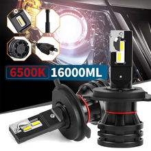 2PCS 16000LM H7 LED Lamp For Car Headlight Bulbs H1 H3 H11 H8 9005 9006 HB3 HB4 H4 Lights 12V Turbo Auto